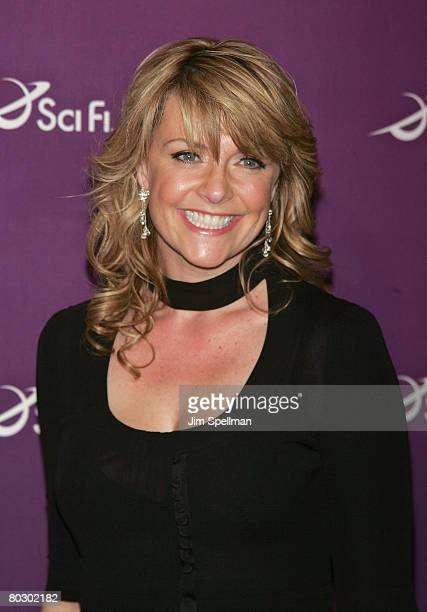 Actress Amanda Tapping arrives at the 2008 Sci Fi Channel UpFront at The Morgan Library and Museum on March 18 2008 in New York City