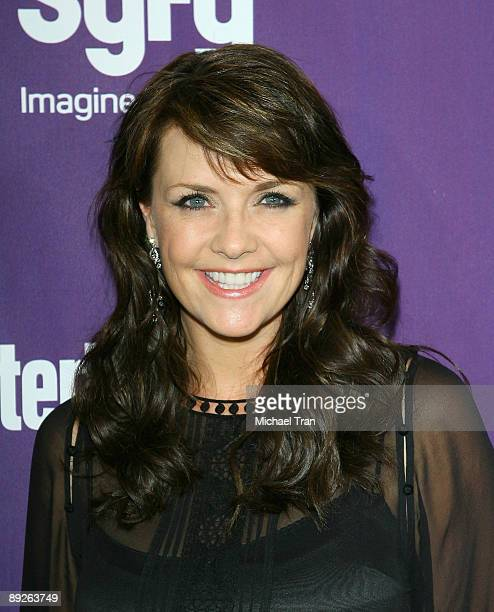 Actress Amanda Tapping arrives at the EW and Syfy Comic-Con party held at the Hotel Solamar July 25, 2009 in San Diego, California.