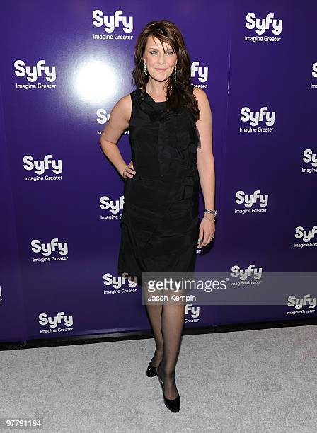 Actress Amanda Tapping attends the 2010 Syfy Upfront party at The Museum of Modern Art on March 16 2010 in New York City