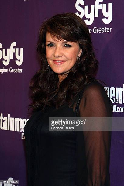 Actress Amanda Tapping attends the Entertainment Weekly and Syfy party celebrating Comic-Con at Hotel Solamar on July 25, 2009 in San Diego,...