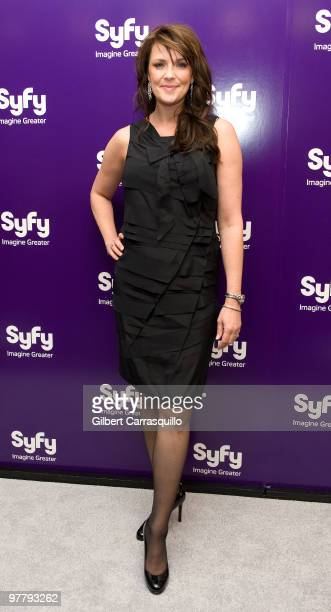 Actress Amanda Tapping attends the SYFY 2010 Upfront Party at The Museum of Modern Art on March 16 2010 in New York New York