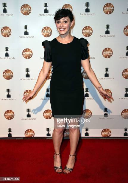 Actress Amanda Troop attends the 45th Annual Annie Awards at Royce Hall on February 3 2018 in Los Angeles California