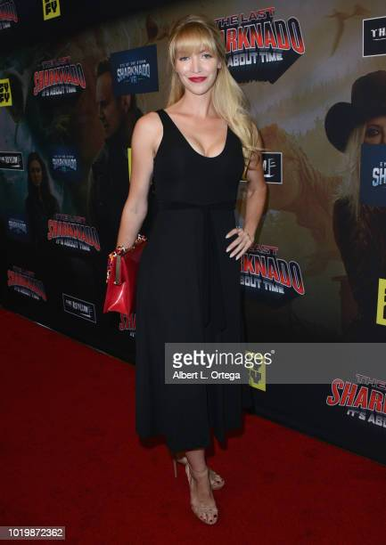 Actress Amanda Wagner arrives for the Premiere Of The Asylum And Syfy's 'The Last Sharknado It's About Time' held at Cinemark Playa Vista on August...