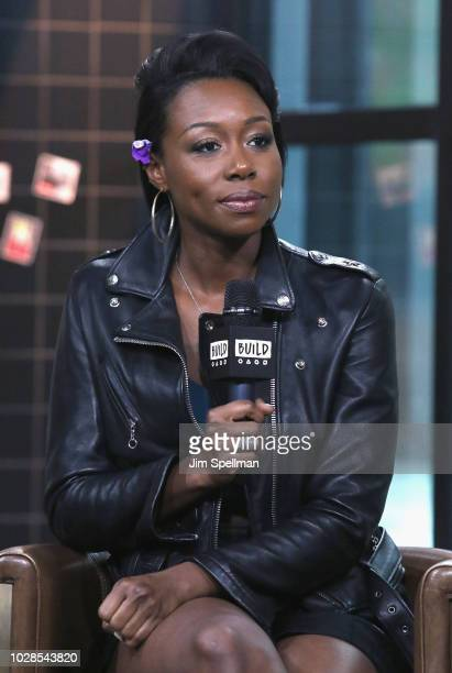 Actress Amanda Warren attends the Build Series to discuss 'The Purge' at Build Studio on September 7 2018 in New York City