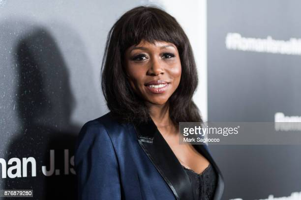 Actress Amanda Warren attends the Roman J Israel Esquire New York Premiere at Henry R Luce Auditorium at Brookfield Place on November 20 2017 in New...