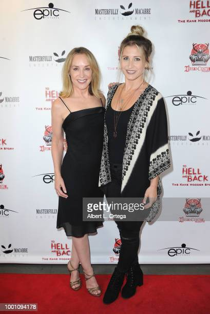 Actress Amanda Wyss and actress Gabrielle Stone arrive for the Screening Of Epic Pictures Releasing's 'To Hell And Back The Kane Hodder Story' held...