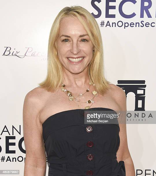 Actress Amanda Wyss arrives at AN OPEN SECRET Los Angeles Premiere on July 15 2015 in Beverly Hills California