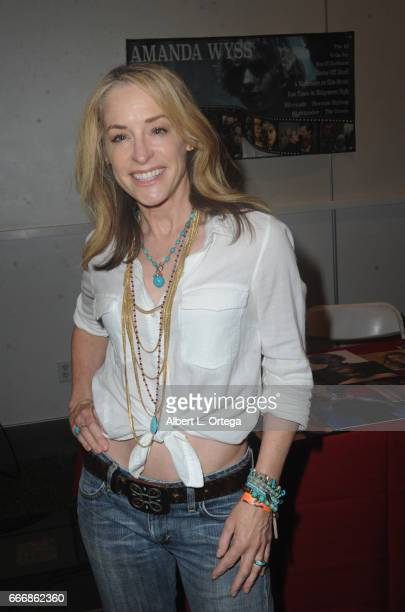 Actress Amanda Wyss attends day 2 of the 2017 Monsterpalooza held at Pasadena Convention Center on April 9 2017 in Pasadena California