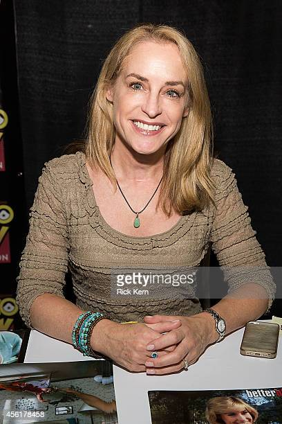Actress Amanda Wyss attends day one of the Alamo City Comic Con at the Henry B Gonzalez Convention Center on September 26 2014 in San Antonio Texas