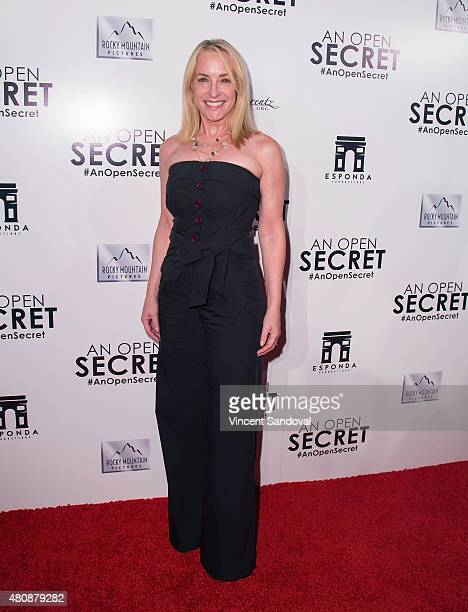 Actress Amanda Wyss attends the Los Angeles premiere of Amy Berg's 'An Open Secret' at Writers Guild Theater on July 15 2015 in Beverly Hills...