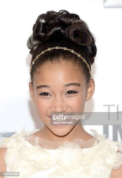 Actress Amandla Stenberg arrives at the 44th NAACP Image Awards held at The Shrine Auditorium on February 1 2013 in Los Angeles California