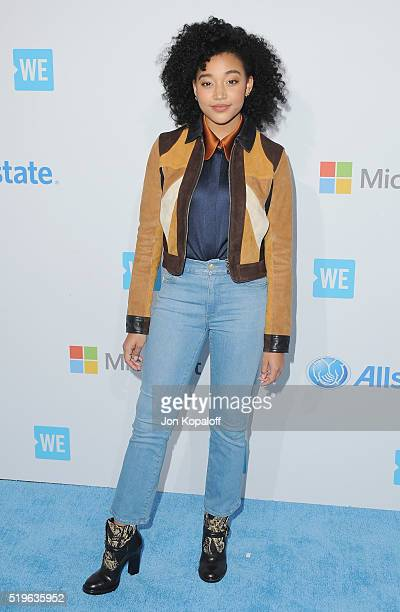 Actress Amandla Stenberg arrives at WE Day California at The Forum on April 7 2016 in Inglewood California