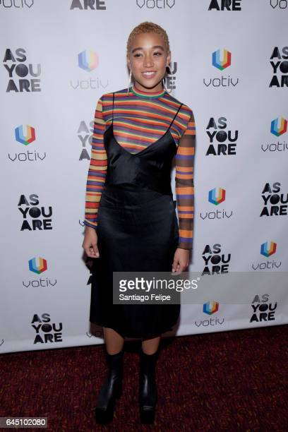 Actress Amandla Stenberg attends 'As You Are' New York Premiere at Village East Cinema on February 24 2017 in New York City