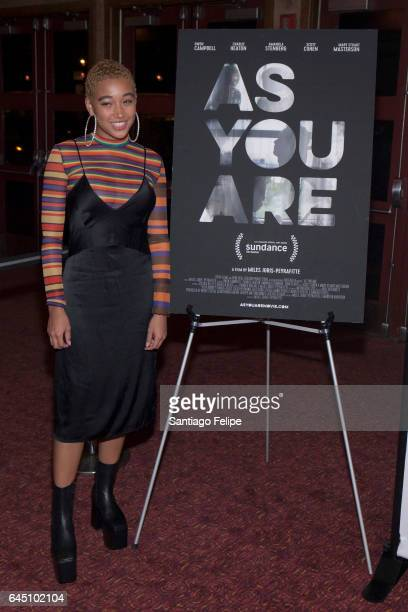 """Actress Amandla Stenberg attends """"As You Are"""" New York Premiere at Village East Cinema on February 24, 2017 in New York City."""