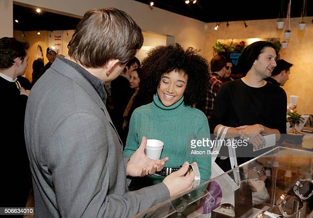 Actress Amandla Stenberg attends Kari Feinstein's Style Lounge on January 24 2016 in Park City Utah
