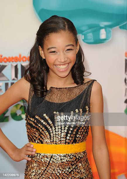 Actress Amandla Stenberg attends Nickelodeon's 25th Annual Kids' Choice Awards held at Galen Center on March 31 2012 in Los Angeles California