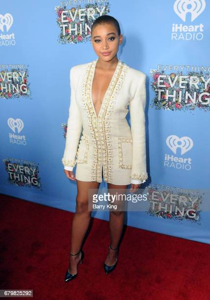 Actress Amandla Stenberg attends screening of Warner Bros Pictures' 'Everything Everything' at TCL Chinese Theatre on May 6 2017 in Hollywood...