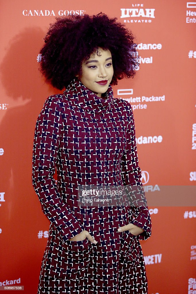Actress Amandla Stenberg attends the 'As You Are' Premiere during the 2016 Sundance Film Festival at Library Center Theater on January 25, 2016 in Park City, Utah.