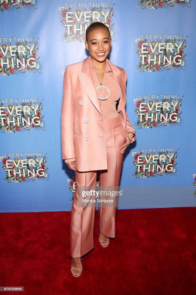 Actress Amandla Stenberg attends the 'Everything, Everything' New York Screening at The Metrograph on April 30, 2017 in New York City.