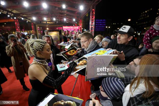 Actress Amandla Stenberg attends the Netflix premiere of The Eddy during the 70th Berlinale International Film Festival Berlin at Zoo Palast on...