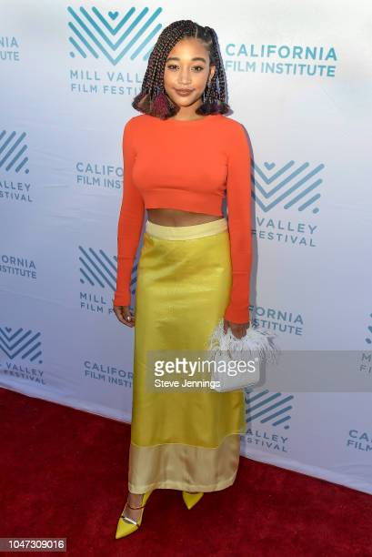 Actress Amandla Stenberg attends the Red Carpet Premiere Screening of 'The Hate You Give' at the 41st Mill Valley Film Festival at Sequoia Theater on...