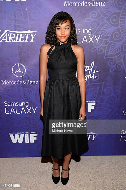 Actress Amandla Stenberg attends Variety and Women in Film Emmy Nominee Celebration powered by Samsung Galaxy on August 23 2014 in West Hollywood...