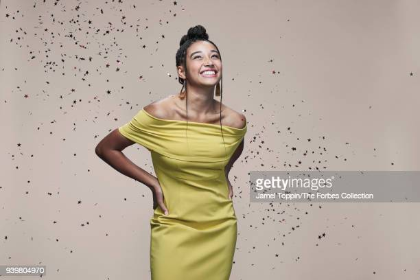 Actress Amandla Stenberg is photographed for Forbes Magazine on October 22 2017 in New York City PUBLISHED IMAGE CREDIT MUST READ Jamel Toppin/The...
