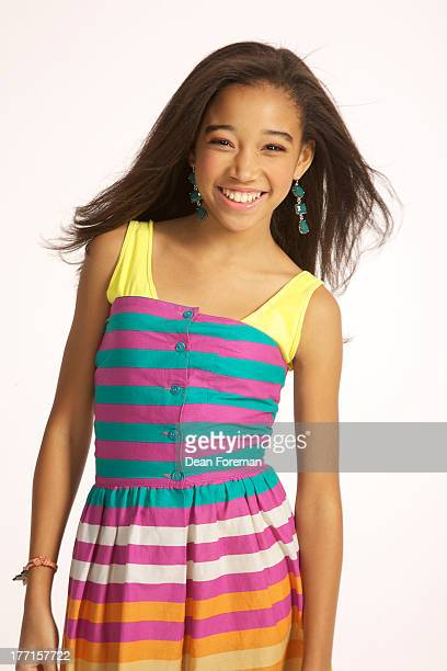 Actress Amandla Stenberg is photographed for Girls Life Magazine on January 20 2012 in Los Angeles California
