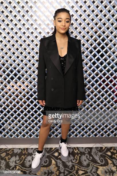 """Actress Amandla Stenberg poses for a portrait at the Amandla Stenberg Rising Star Award Presentation & """"The Hate U Give"""" Screening during the 21st..."""