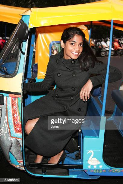 Actress Amara Karan attends a photocall for the movie 'The Darjeeling Limited' in Soho Square on November 21 2007 in London England