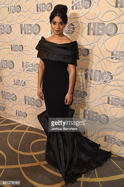 Actress Amara Karan attends HBO's Official Golden Globe Awards After Party at Circa 55 Restaurant on January 8 2017 in Beverly Hills California