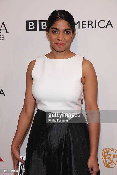 Actress Amara Karan attends The BAFTA Tea Party at Four Seasons Hotel Los Angeles at Beverly Hills on January 7 2017 in Los Angeles California