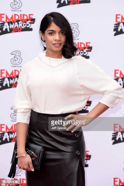 Actress Amara Karan attends the THREE Empire awards at The Roundhouse on March 19 2017 in London England