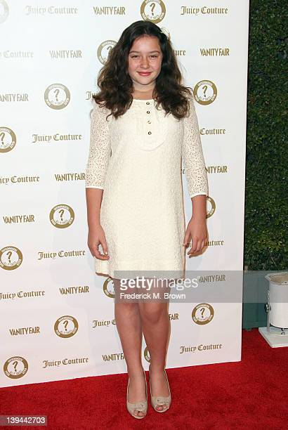 """Actress Amara Miller attends the Vanity Fair and Juicy Couture """"Vanities"""" 20th Anniversary at Siren Studios on February 20, 2012 in Hollywood,..."""
