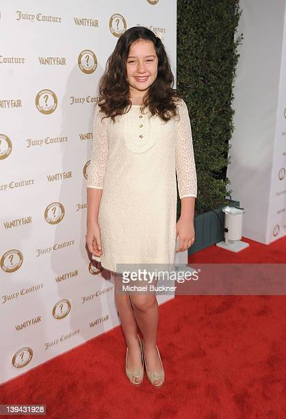 """Actress Amara Miller wearing Juicy Couture attends Vanity Fair and Juicy Couture """"Vanities"""" 20th Anniversary hosted by Vanity Fair West Coast Editor..."""