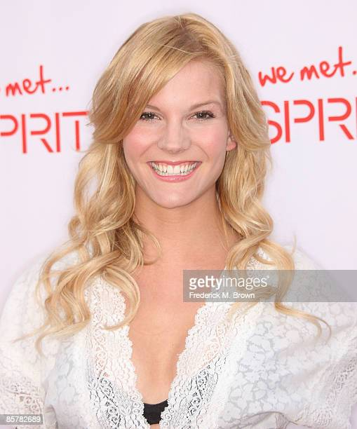 Actress Amber Borycki attends the Esprit Grand Opening celebration at the Third Street Promenade on April 2 2009 in Santa Monica California