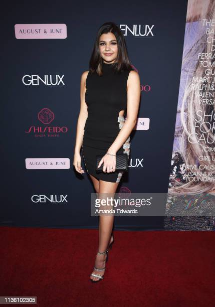 Actress Amber Frank arrives at the GENLUX Issue Release Party hosted by Kristin Cavallari and Carly Steel on March 15 2019 in Beverly Hills California