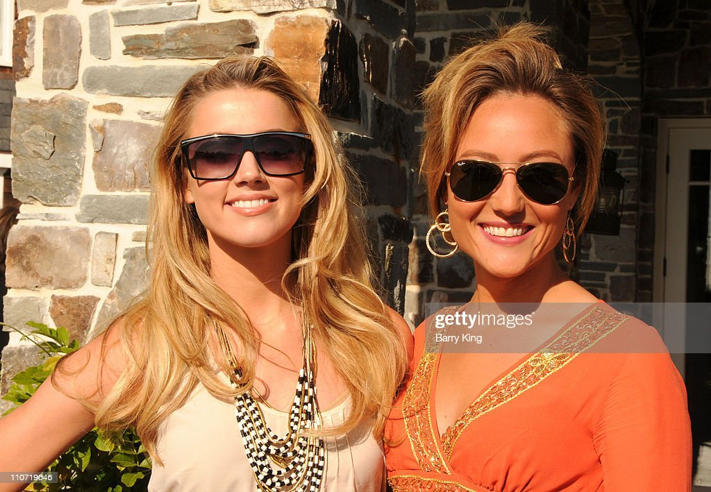 Actress Amber Heard and actress Lauren C. Mayhew attend Equality California's Harvey Milk Day Celebration At The Osbourne Estate Hill House on May 22, 2010 in Hidden Hills, California.