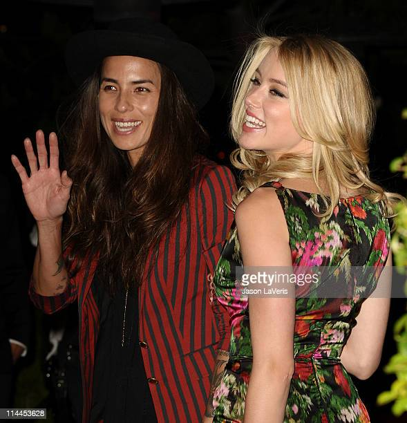 "Actress Amber Heard and girlfriend Tasya van Ree attend the ""Beauty Culture"" exhibition opening reception at Annenberg Space For Photography on May..."