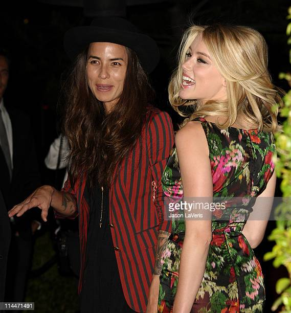 "Actress Amber Heard and Tasya van Ree attend the ""Beauty Culture"" exhibition opening reception at Annenberg Space For Photography on May 19, 2011 in..."