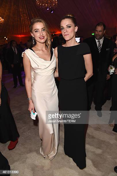 Actress Amber Heard and Whitney Heard attend the 8th Annual HEAVEN Gala presented by Art of Elysium and Samsung Galaxy at Hangar 8 on January 10 2015...