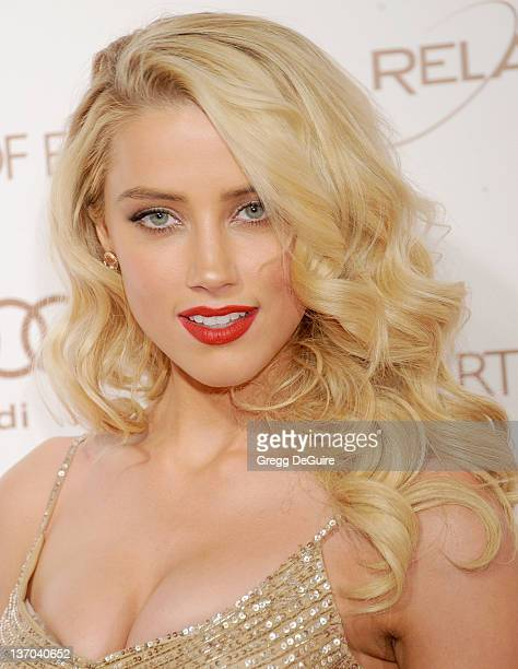 Actress Amber Heard arrives at Art Of Elysium's 5th Annual Heaven Gala at Union Station on January 14, 2012 in Los Angeles, California.