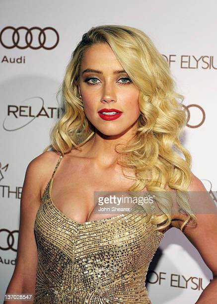 Actress Amber Heard arrives at Audi presents The Art of Elysium's 5th annual HEAVEN at Union Station on January 14, 2012 in Los Angeles, California.