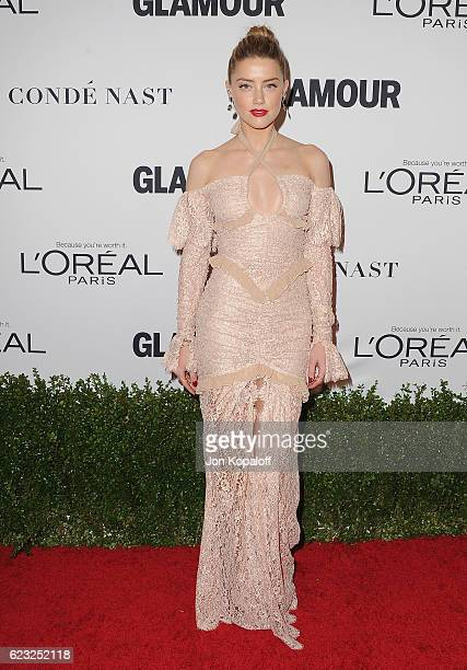 Actress Amber Heard arrives at Glamour Women Of The Year 2016 at NeueHouse Hollywood on November 14 2016 in Los Angeles California