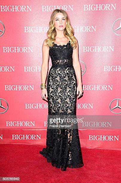 Actress Amber Heard arrives at the 27th Annual Palm Springs International Film Festival Awards Gala at Palm Springs Convention Center on January 2...
