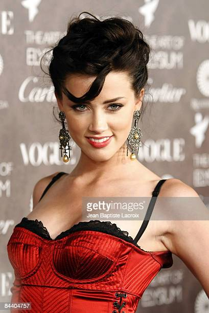 Actress Amber Heard arrives at the Art of Elysium 2nd Annual Heaven Gala held at Vibiana on January 10, 2009 in Los Angeles, California.