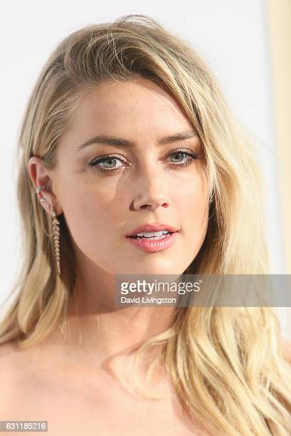 Actress Amber Heard arrives at The Art of Elysium presents Stevie Wonder's HEAVEN celebrating the 10th Anniversary at Red Studios on January 7 2017...