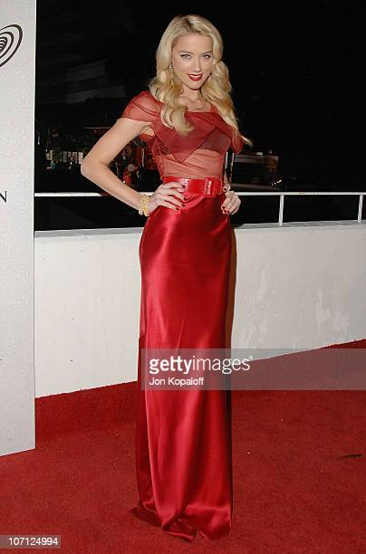 Actress Amber Heard arrives at The Art of Elysium's 3rd Annual BlackTie Charity Gala Heaven at 9900 Wilshire Blvd on January 16 2010 in Beverly Hills...
