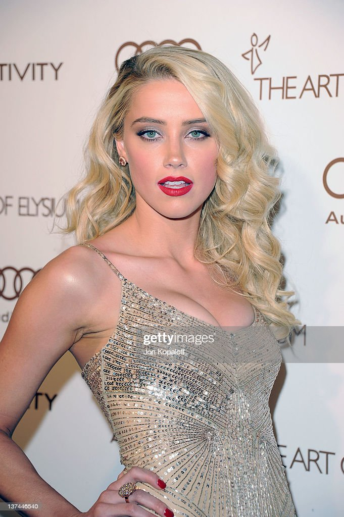 Actress Amber Heard arrives at the Art of Elysium's 5th Annual Heaven Gala held at Union Station on January 14, 2012 in Los Angeles, California.
