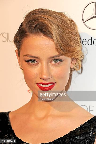 Actress Amber Heard arrives at The Art of Elysium's 7th Annual HEAVEN Gala presented by Mercedes-Benz at Skirball Cultural Center on January 11, 2014...